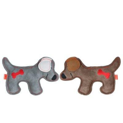 leren platte hondenknuffel